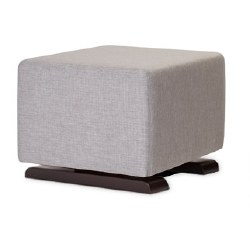 Monte Design - Como Ottoman - Pebble Grey Body/Espresso Base