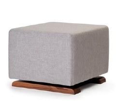 Monte Design - Como Ottoman - Pebble Grey Body/Walnut Base