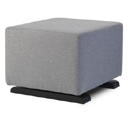 Monte Design - Grano Ottoman - Heather Grey Body/Wood Base