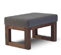 Monte Design - Joya Ottoman - Charcoal Body/Walnut Base