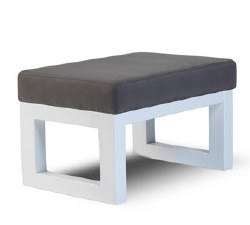Monte Design - Joya Ottoman - Charcoal Body/White Base