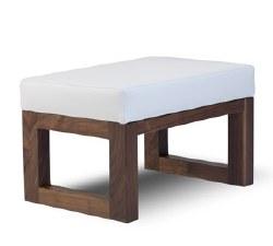 Monte Design - Joya Ottoman - White Body/Walnut Base