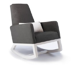 Monte Design - Joya Charcoal Body/White Wood Base/White Lumbar Pillow