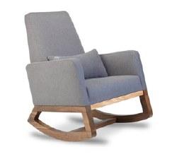 Monte Design - 1 Joya Heather Grey Body/Walnut Wood Base/Heather Grey Lumbar Pillow