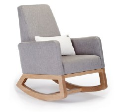 Monte Design - 1 Joya Pebble Grey Body/Maple Wood Base/White Lumbar Pillow