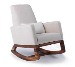 Monte Design - Joya Stone Body/Walnut Wood Base/White Leather Lumbar Pillow