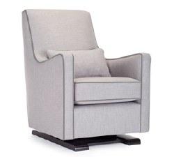 Monte Design - 1 Luca Glider/Pebble Grey Body/Heather Grey Piping/Pebble Grey Lumbar Pillow