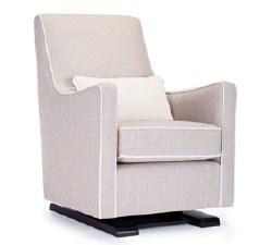 Monte Design - Luca Glider/Sand Body/White Piping/White Lumbar Pillow