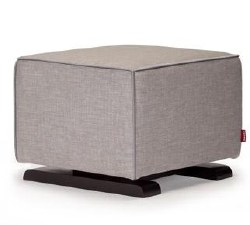 Monte Design - Luca Ottoman - Pebble Grey Body/Heather Grey Pipping