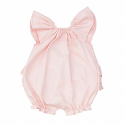 N L - Bubble Romper - Faille Pink 3-6