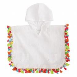 N L - Hooded Tassel Cover Up - Multi S