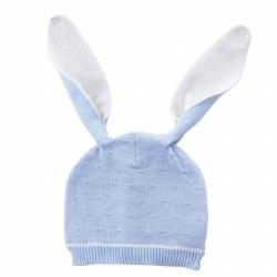 N L - Knit Hat Bunny - Blue