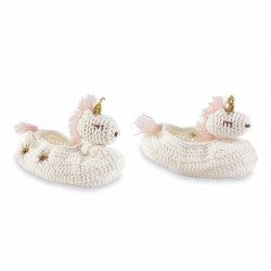 N L - Knitted Booties - Unicorn