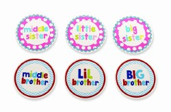 N L - Milestone Stickers Sibling