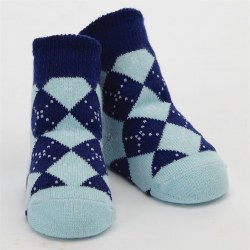 N L - Single Socks - Argyle Blue