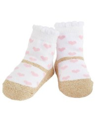 N L - Single Socks - Pink Heart