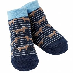 N L - Single Socks - Puppy Navy