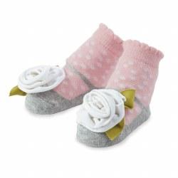 N L - Single Socks - White Flower