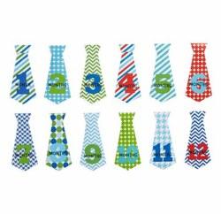 N L - Milestone Stickers Tie Boy