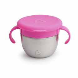 Munchkin - Snack + Stainless Steel Snack Catcher Pink