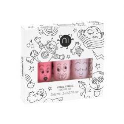 Nailmatic - Kids Nail Polish 3-Pack Set - Cosmo