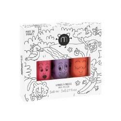 Nailmatic - Kids Nail Polish 3-Pack Set - Jungle
