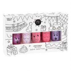 Nailmatic - Kids Nail Polish 5-Pack Set - Party