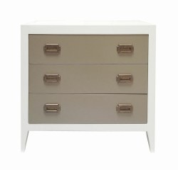 Newport Cottages - Devon 3-Drawer Dresser - White/French Grey