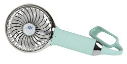 Nikiani - USB Rechargeable Turbo Fan - Mint/Chrome