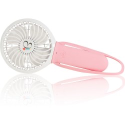 Nikiani - USB Rechargeable Turbo Fan - Pink/White