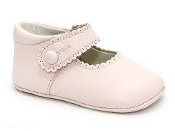 Nilo Baby - Baby Scallop Baby Strap Shoes Pink 15