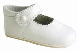 Nilo Baby - Baby Scallop Baby Strap Shoes White 15