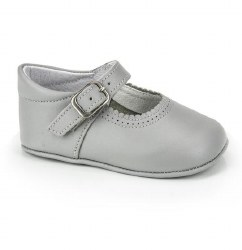 Nilo Baby - Baby Mary Janes Straps Shoes Light Grey 15