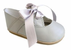 Nilo Baby - Baby Ribbon Shoes Light Grey 15