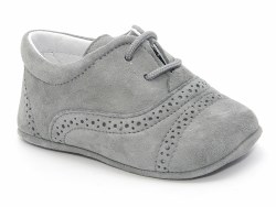 Nilo Baby - Baby Soft Leather Booties Shoes Light Grey 15