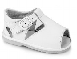 Nilo Baby - Baby T-Strap Baby Sandals with Buckles White 16