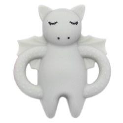 Nilo Baby - Single Silicone Teether - Dragon Light Grey