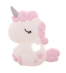Nilo Baby - Single Silicone Teether - Unicorn Pink