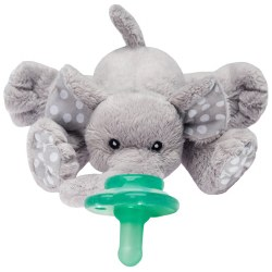 Nookums - Paci-Plushies Pacifier Holder - Elephant Grey