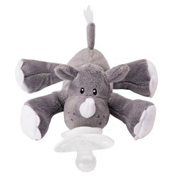 Nookums - Paci-Plushies Pacifier Holder - Rosie Rhino