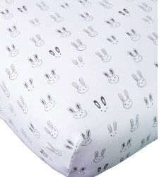 Noomie - Pima Cotton Crib Sheet - Black Bulldog