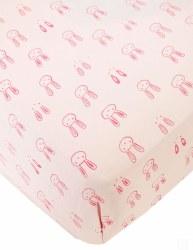 Noomie - Crib Sheet Bunny Pink