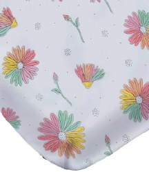 Noomie - Pima Cotton Crib Sheet - Daisies