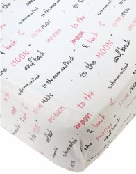 Noomie - Crib Sheet Moon Pink