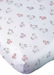 Noomie - Pima Cotton Crib Sheet - Unicorn