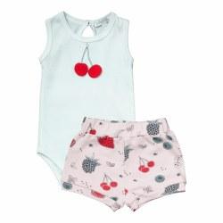 Noomie - Onesie Short Sleeves Set - Berries 0-3
