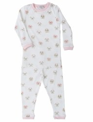 Noomie - 2 Piece Pajamas Pink Bulldog 12-18