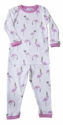 Noomie - 2 Piece Pajamas Flamingos 12-18