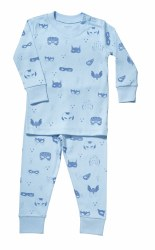 Noomie - 2 Piece Pajamas Masks Blue 12-18