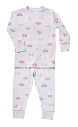Noomie - 2 Piece Pajamas Masks Pink 12-18